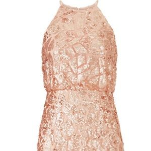Donna Morgan Rose Gold Tiffany Gown